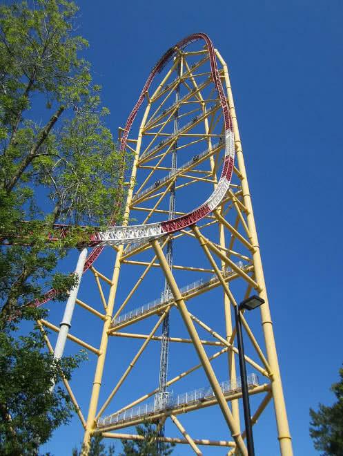 thrill dragster roller coaster